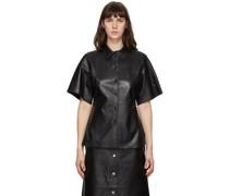 Leather Alivia Short Sleeve Hemd