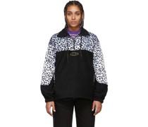 & Leopard Half-Zip Sweatshirt