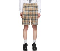 Vintage Check Technical Twill Shorts