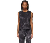 Batik Camo Fitted Muscle Tank Top