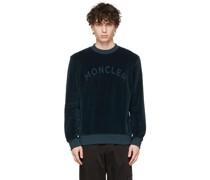 Velour Embossed Sweatshirt