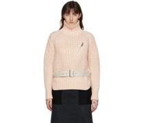 Wool mit Gürtel Rollkragenpullover