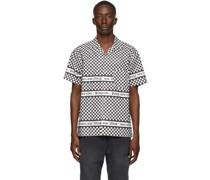 & Checkerboard Kurzarm Hemd / Bluse