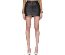Faux-Leather Minirock