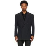 Linen Oversized Double-Breasted Blazer