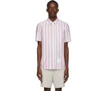 & Oxford Stripe Short Sleeve Hemd