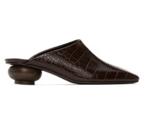 Croc Heel Mule