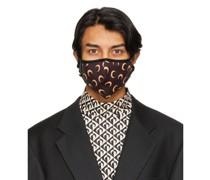 Tan Allover Moon Daily Wear Maske