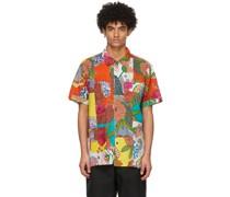 Floral Patchwork Camp Short Sleeve Hemd
