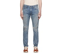 Slim Narrow Fit Hand-Repaired Jeans