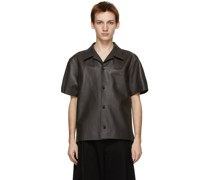 Leather Short Sleeve Hemd