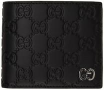 ' Signature' GG Embossed Brieftasche