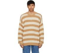 Tan & Striped Vista Pullover