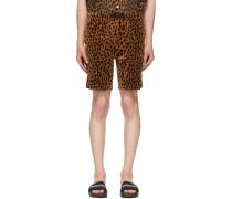 Velour Leopard Short
