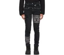 C2H4 Edition 'C-MASTERMIND' Double Waist Jeans