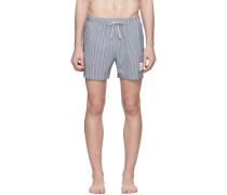 Striped Seersucker Drawcord Short
