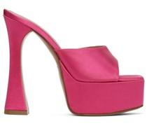 Satin Dalida Heeled Sandale