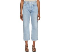'90s Crop Mid-Rise Loose Fit Jeans