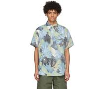 & Floral Popover Short Sleeve Hemd