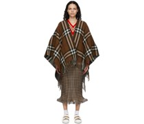 Reversible Wool Poncho
