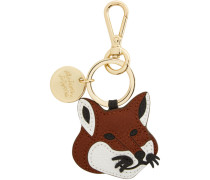 Leather Fox Head Schlüsselanhänger