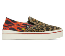 Leopard Flaming Heads Sneaker