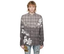 Bleach Floral Plaid Hemd