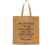 Tan Medium Languages Shopper Tote