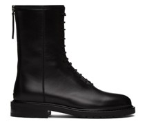 Leather Combat Stiefel