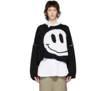 Oversized Wool Smiley Rundhalspullover
