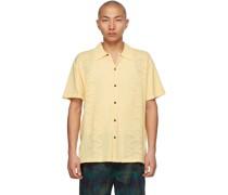 Knit 'Retro Rainbouu' Short Sleeve Hemd