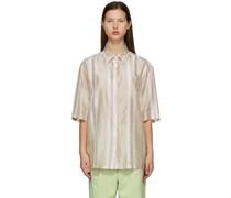 & Striped Short Sleeve Hemd