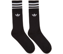 Three-Pack Solid Crew Socke
