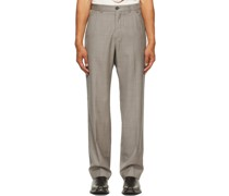 Worsted Wool Check Chino 22 Hose