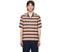& Wide Striped Short Sleeve shirt