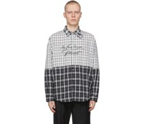 My Own Private Planet Check Paneled Loose Hemd