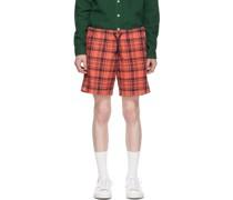 & Cotton Linen Check Shorts