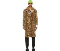 Leopard Faux-Fur Mantel