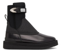 Suicoke Edition Perforated Buckled Stiefel
