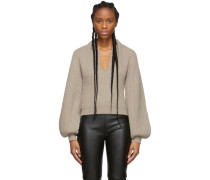 Wool Draped Neck Pullover