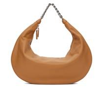 Tan Large Chain Sasha Tasche