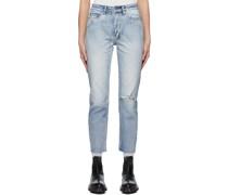 Distressed Nine O Jeans