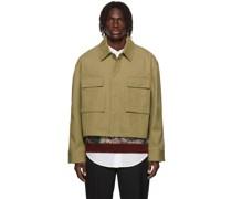 Cropped Cotton Jacke