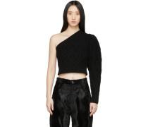 Single Shoulder Cropped Pullover