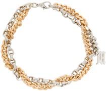 & Chain Monogram Halskette