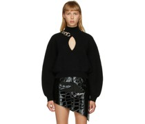 Chain-Link Keyhole Pullover