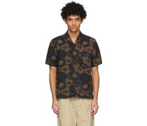& Tan Floral Pappy Short Sleeve Hemd