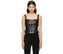 Faux-Leather Tank Top