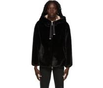 Faux-Fur Hooded Jacke
