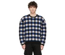 Wool Checkerboard Rundhals Pullover